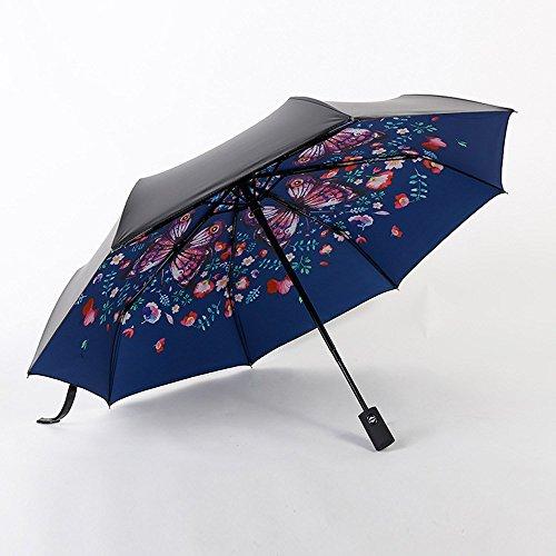 Kphy-creative parasole, automatica l'ombrello nero, nero di colla, la crema solare, protezione uv.,b.