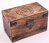 """Schatztruhe """"Keltic"""", Geschenkbox aus Massivholz, mit geschnitztem keltischen Knoten 20x11x12cm"""