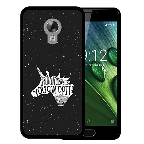 WoowCase Acer Liquid Z6 Plus Hülle, Handyhülle Silikon für [ Acer Liquid Z6 Plus ] Motivierungssatz - If You Can Dream It You Can Do It Handytasche Handy Cover Case Schutzhülle Flexible TPU - Schwarz
