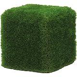 Pouf pour ameublement extérieur 50x 50cm recouvert avec herbe synthétique Florence de mm. 55