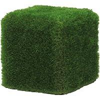 Verdevip Puf de Muebles Exterior 50x 50cm Revestido con Hierba sintética Firenze de mm. 55