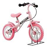 Enkeeo 12 Zoll Laufrad - Sport Balance Bike Street Lernlaufrad Roller Kinderfahrrad ab 2 Jahren (Rosa)