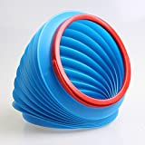 TOCHENG Barile di stoccaggio di 4L blu storage scalabile secchio pieghevole auto retrattile cestino secchio immondizia secchio