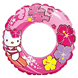 Intex  - Rueda flotador hinchable, diseño Hello Kitty, 61 cm (56210NP)
