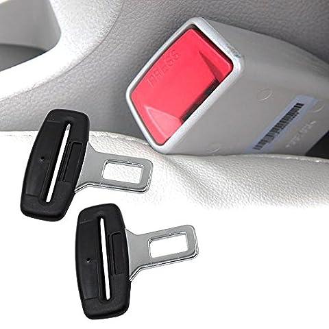 Boonor 2X Ceintures de sécurité Sécurité automobile Sécurité universelle Fibre de carbone Clamp Crochet Cinturon Connecteur Sécurité pour chaises Sièges de voiture Véhicule Voiture