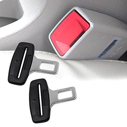 Boonor 2ps Cinturones de seguridad De Seguridad De Coche Universal De Fibra De Carbon Clip Abrazadera Enganche Conector de Cinturon Seguridad para Sillas Asientos de Auto Coche Vehículo