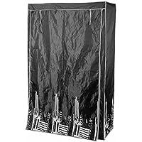 Modulhome 6RAN645NR Housse Polyester Noir 110 x 46 x 178 cm
