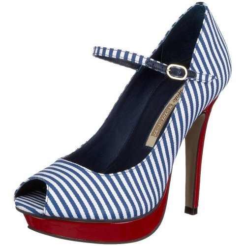 Buffalo London 8687-414 ARTIGO 98429, Damen Pumps, Blau (NAVY126), EU 40 (Heel-schuhe Marine-blau-high)