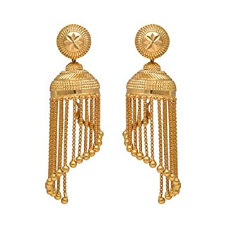 Joyalukkas 22k Yellow Gold Jhumki Earrings for Women