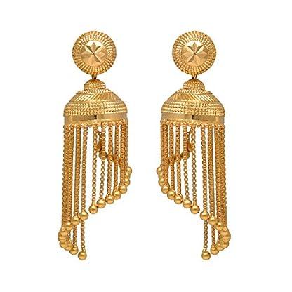 Joyalukkas 22k Yellow Gold Jhumki Earrings for Women