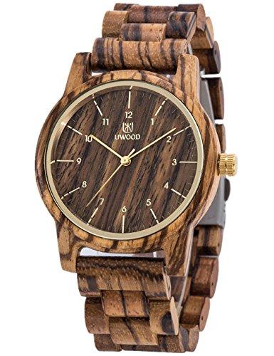 Orologio Di Legno UWOOD Uomo Donna Orologio da polso 40mm Vintage orologi di legno naturale