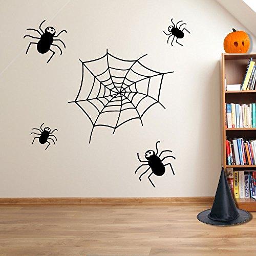 Halloween Spooky Spider Spider Web Wand Dekorationen Fenster Aufkleber Wall Decor Sticker Wall Art Aufkleber Sticker Wand Aufkleber Aufkleber Wandbild Décor DIY Deco Abnehmbare Wandaufkleber Colorful Aufkleber, Vinyl, 01 - - Diy Spooky Halloween-dekoration