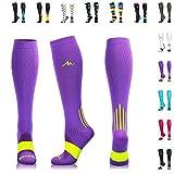 NEWZILL Compression Socks (20-30mmHg) for Men & Women - Best Stockings for Running