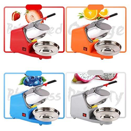 JCOCO Doppelmesser-Hochleistungs-Edelstahl-Eisrasierer, Schneekonus-Maschine, elektrisch rasierte Eismaschine 2200 U/min (209lbs / hr 380W Eisrasierer)