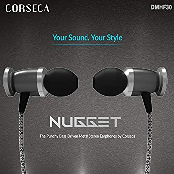 66fdef57a99 CORSECA Nugget Bass Driven Metal Stereo Earphones with Noise Eliminating  Microphone