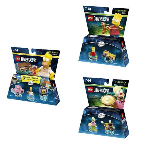 LEGO Dimensions The Simpsons Level Pack with Bart and Krusty Fun Packs