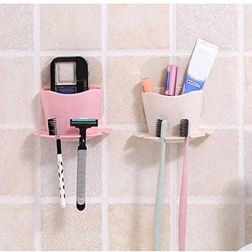 Upxiang Hängende Badezimmer Zahnbürstenhalter Zahnbürste Rack Küche Drain Rack Storage Utensil Box Küche Tragbare hängende Drain Tasche Korb Bad Lagerung (Beige) (Drain-tasche)