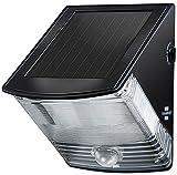 4er Set: Brennenstuhl Solar LED-Wandleuchte SOL 04 plus IP44 mit Infrarot-Bewegungsmelder 2xLED Schwarz, 1170970 [Energieklasse C]