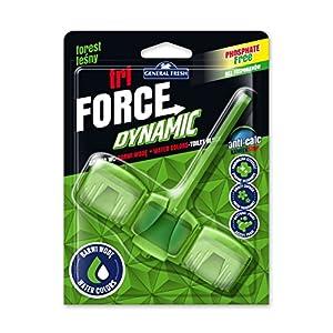 12er Pack. WC Grünspüler Tri Force Dynamic Intensive Duft, Aktivschaum- und Wasserfärbung Dynamischer Grün – Waldduft (12x45g.)