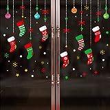 Kofun 1 Blatt 45x60 cm Frohe Weihnachten Wandaufkleber Nicht Kleber Static Cute Bunte Muster DIY Schaufenster Fensterglas Hintergrund Neujahr Dekoration 6257