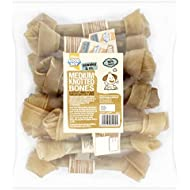 Good Boy Rawhide Dog Treat Medium Knotted Bone, 200mm, Pack of 10