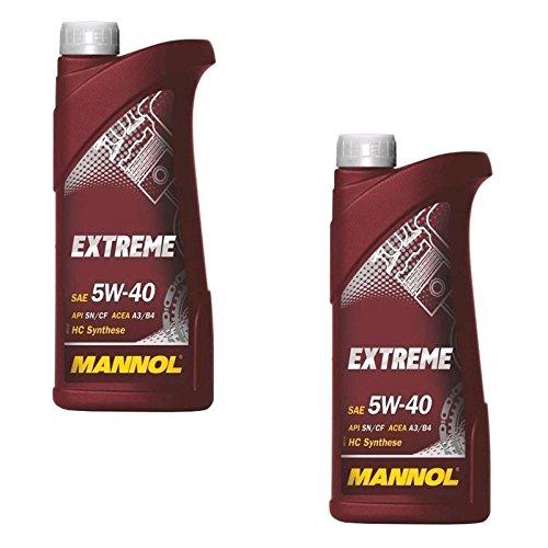 2 x 1L MANNOL Extreme Motoröl SAE 5W40 API SL/CF