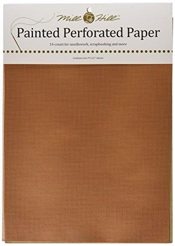 12-inch Terra Cotta (Mill Hill 9 x 12 Zoll, 14 Count, lackiert, perforiert, 2 er Pack, Terra Cotta)