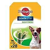 Dentastix Fresh de uso diario para higiene oral y contra mal aliento para perros pequeños (Pack de 4)