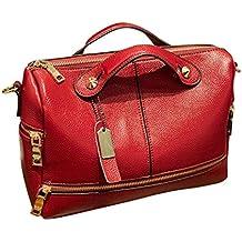 Bolso, Manadlian Mujer Bolso Mensajero Bolsas de mano Famoso Alta calidad Bolsa de hombro (28*15*21cm, Rojo)