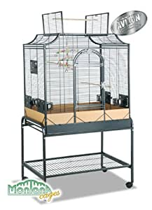 Cage pour oiseau Madeira III anthracite