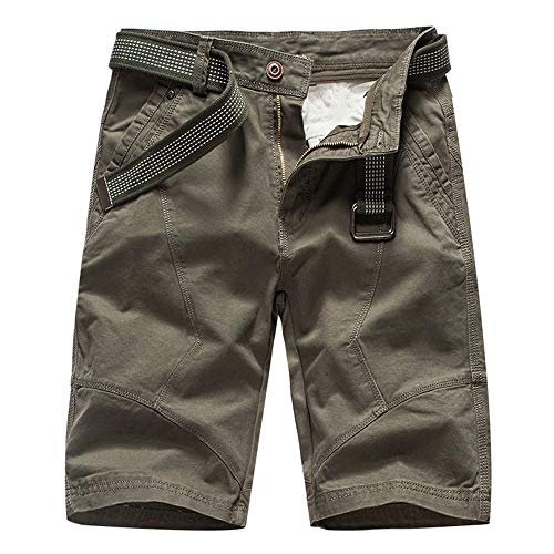 Aiserkly Herren Cargo Shorts Chino Hosen Gürtel Hose Arbeitshose Pocket Flachgewebe Hose Jogginghose Kampfhose Kurze Sommer Stoffhose -