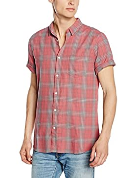 New Look Herren Freizeithemd Washed Check