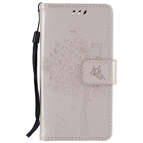 Nancen Tasche Hülle für LG Spirit 4G LTE H440 H420 C70 (4,7 Zoll) Flip Schutzhülle Zubehör Lederhülle mit Silikon Back Cover PU Leder Handytasche im Bookstyle Stand Funktion Kartenfächer Magnet Etui Schale