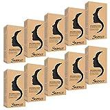 Skineco Ziegenmilchseife mit Aktivkohle, 10er Pack (je x 90 g)