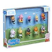 Peppa Pig collectable 10 confezioni di figure in divertente vestire i disegni di costume! Ogni figura è articolata con bracci e gambe in movimento. Un pacchetto di 10 figure viene fornito. Gli stili possono variare.