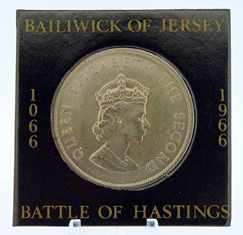 Gedenkmünze von 1966 zum Jahrestag der Schlacht von Hastings im Jahr 1066, unzirkuliert, Kronbesitzung Jersey -