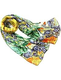 92011a1fe226 Prettystern peinture foulard de soie 160cm van Gogh oeuvres d art Roulotté  main - de