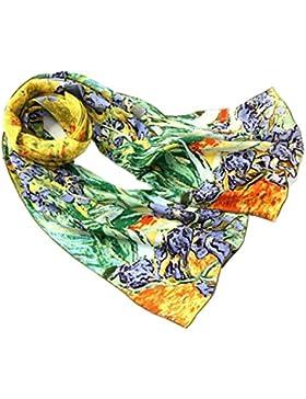 Prettystern - Reproduzione opera d'arte print 160cm dipinto van Gogh sciarpa di seta bordi arrotolati a mano varie...
