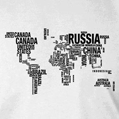 Letter World Map - Herren T-Shirt Schwarz