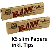10 x Raw Connoisseur Papers Tips Per Pack hergestellt von RAW