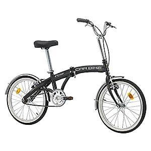 """51l0KIwW2eL. SS300 Cicli Cinzia Bicicletta 20"""" Pieghevole Carbike, Senza Cambio, Nero Opaco, Uomo"""