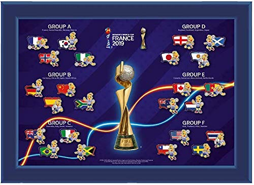 FIFA Women's World Cup France 2019TM Pin Collection Nations with Mascot PI, Unisex, Nachbildung, Einheitsgröße -