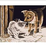 CYKEJISD Puzzle 1000 Pezzi Animale Domestico per Cani E Gatti Classic Puzzle 3D Puzzle Toy Gift in Legno