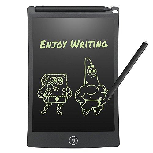 Tableta de Escritura LCD digital Pizarra 8.5 inches electrónica gráficaTablero de Mensaje portátil de para escribir y dibujar 0 gasto de papel con Lápiz Táctil Notas para Clase, Oficina, Casa, Cocina Regalos para Niños y adulto (negro)