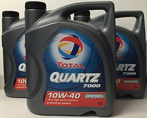 Total Quartz 7000 Diesel 10W40 15 LITROS 3x5 litros