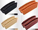 2X KFZ Autositz Ablagefächer Utensilientasche - Farbauswahl- Handy Halter Tasche Box Organizer Auto LKW Autositz (Schwarz - Kunstleder)