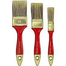 ROTIX 96143 Lasurpinsel 3 Stück 20 - 35 - 50 mm Flachpinsel Flächenstreicher Beizpinsel