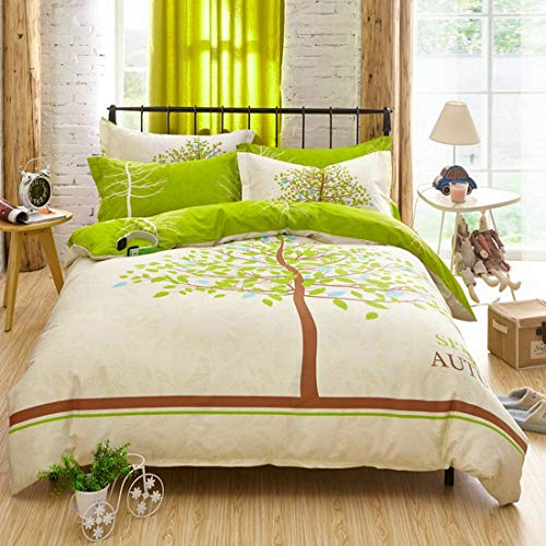 Klerokoh Neue große Version von Twill Active Abrasive Warm Bedding 4er-Set (Color : Green, Size : Queen) (Schlafzimmer-sets Königin)