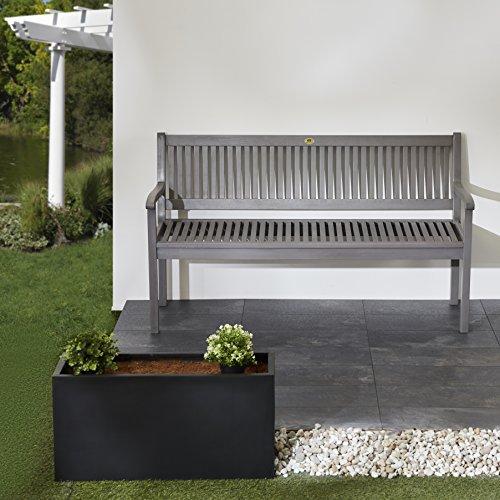 Ultranatura Gartenbank 3-Sitzer, Edles und Hochwertiges Eukalyptusholz, 152 cm x 66 cm x 86 cm - 6