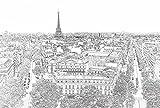 Papier Peint poster panoramique PARIS ETERNEL 4 x 2,70 m | Déco et photo murale XXL Qualité HD Scenolia